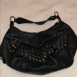 B. Makowski Bags - B. Makowski leather black gold studded bag