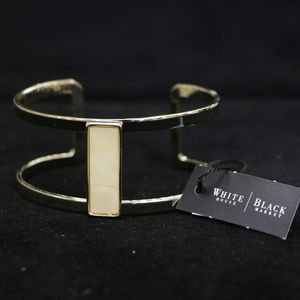 NWT gold / mother of pearl cuff bracelet WHBMB23