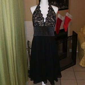 Dresses & Skirts - Black Lace Halter Dress