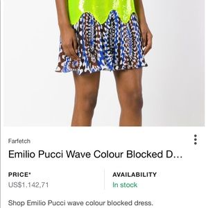 Emilio Pucci New with tags Sequin Dress