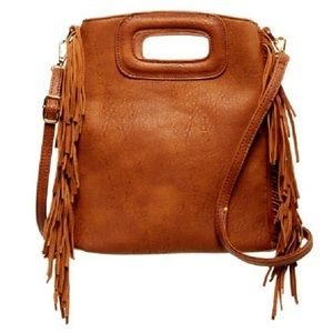 Gorgeous Brown PU Leather Bag with Fringe 😍