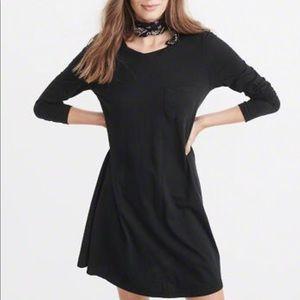 Abercrombie black long sleeve T-shirt dress XS