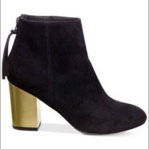 f3ee6cc7f7c Steve Madden Shoes - Steve Madden Women Zipper Gold Block Heel Booties