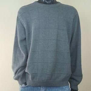 Izod Dark Grey Crewneck Sweater Long sleeve