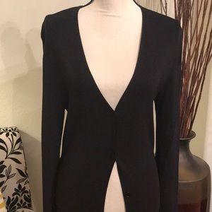 Max Studio Black full length sweater cardigan