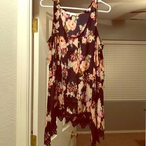 Tops - Daniel Rainn High Low Floral Tank