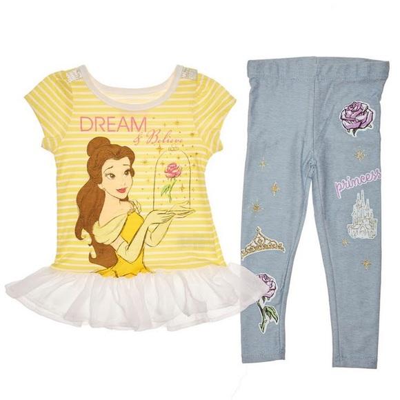 1ee20227d292a Disney Matching Sets | Princess Belle Belle Top Leggings | Poshmark