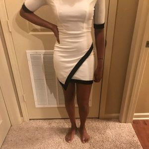Dresses & Skirts - White and black bodycon dress