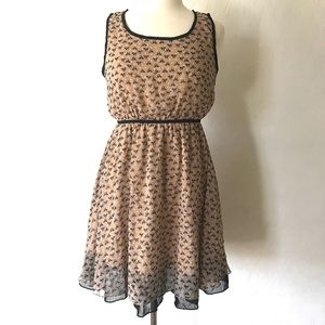 Dresses & Skirts - Black Cat Print Dress