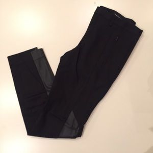 Club Monaco leather panel slacks