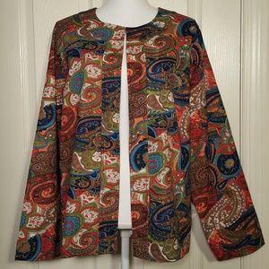 Parsley & Sage Colorful Paisley Jacket