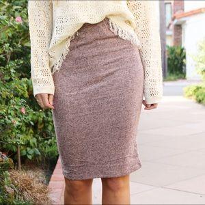 Dresses & Skirts - blush midi skirt