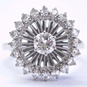JABEL Vintage Old European Cut Diamond White Gold for sale