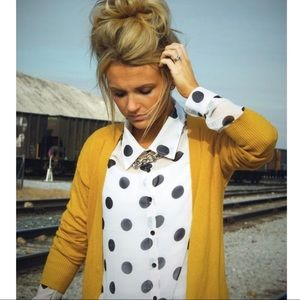 Sweaters - 'Elora' Yellow Cardigan With Pockets
