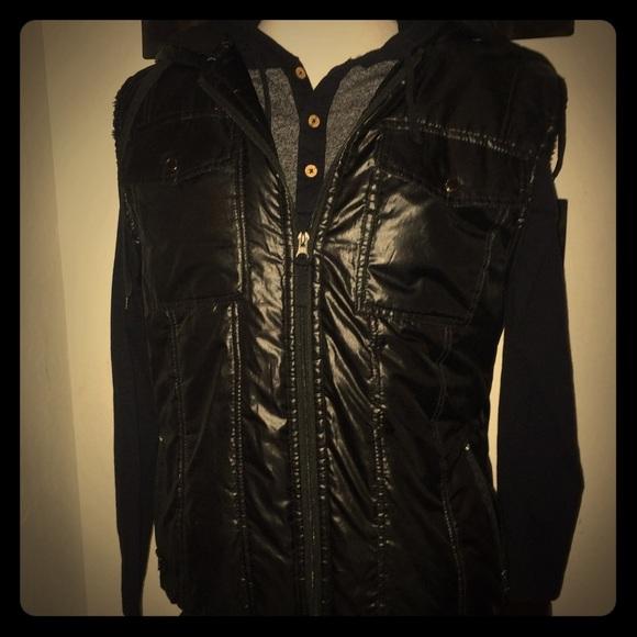 f67f129cec51b courage clothing co Jackets & Coats | Black Puffer Vest Mens Xl ...