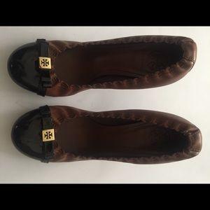Tory burch round toe heels