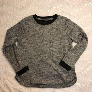 Banana Republic Marled Sweatshirt Gray & Black M
