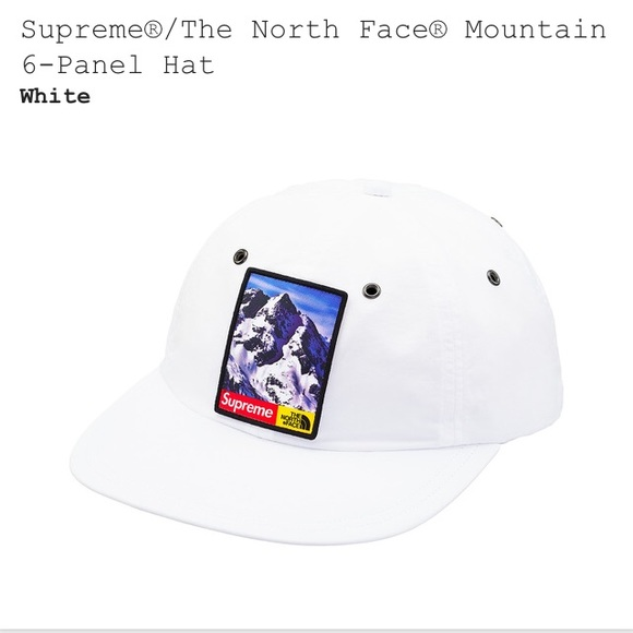 14fbcee2 Supreme Accessories | X The North Face 6 Panel White Hat | Poshmark