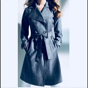 Calvin Klein Denim Trench Coat 🧥