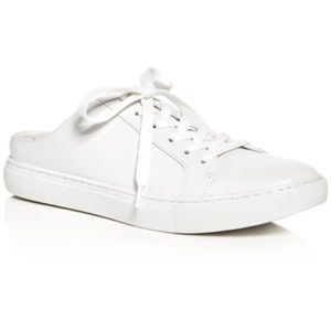 Kenneth Cole Reaction White Leather Mule Sneakers