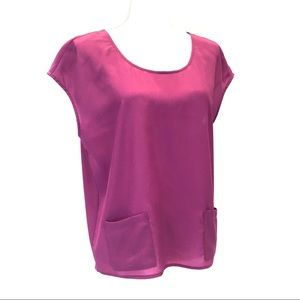 TROUVE Fuchsia Blouse with Pockets