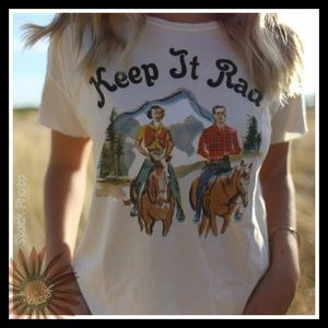 Tops - Keep It Rad Retro Inspired Graphic T-Shirt