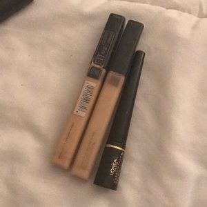 Maybelline/ELF concealer + l'oreal eyeliner BUNDLE