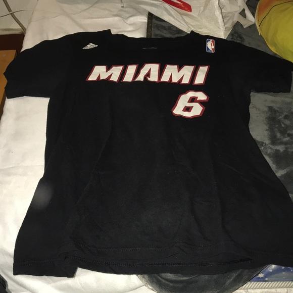 huge selection of 3a61b 55e59 Adidas Miami Heat Lebron James T-Shirt