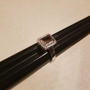 Jewelry - NWOT WGP Faceted Blush w/CZ Ring Size 7.5