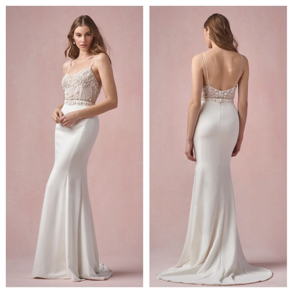 bbf30788fe6 Irene BHLDN Willowby by Watters 6 Ivory NEW