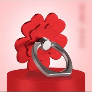 Accessories - Camellia Rose Phone Ring in red