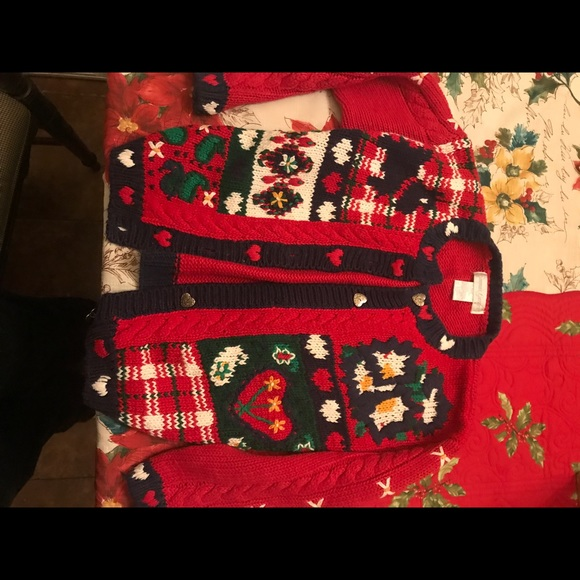 Other - Girls button down Christmas holiday sweater