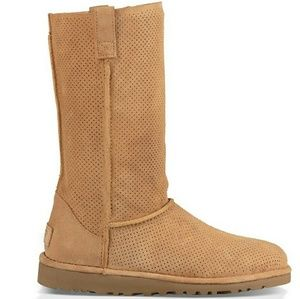 9a992543375 Ugg Classic Unlined Tall Suede Perforated Boots NWT