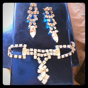 Cubic Zirconium earring and necklace set