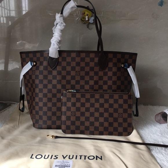 Louis Vuitton Bags   Neverfull Mm Red Interior   Poshmark 624962e4ce