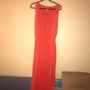Dresses & Skirts - Xl orange sleeveless maxi dress