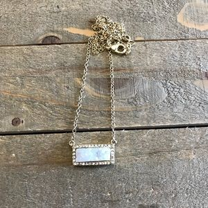 Handmade White and Gold Druzzy Necklace