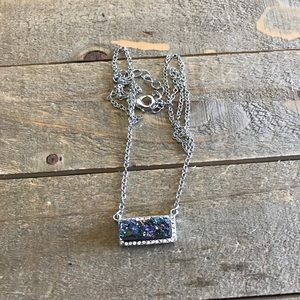 Handmade Purple/ Blue Druzzy Necklace