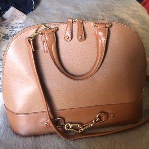 JustFab Camel Shoulder Bag