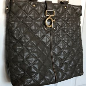 J. Crew Grey Quilted Shoulder Bag