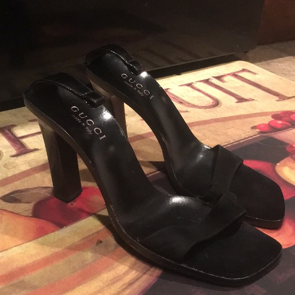 Leather Sandals Heels Shoes