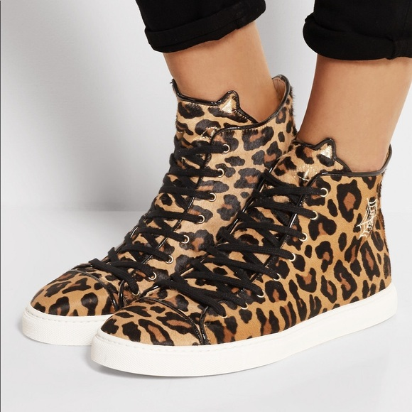 c88914af9e63 Charlotte Olympia Shoes | Nib Leopard Hitops | Poshmark