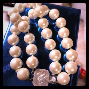 Faux pear multilayered Chaps Clasp bracelet