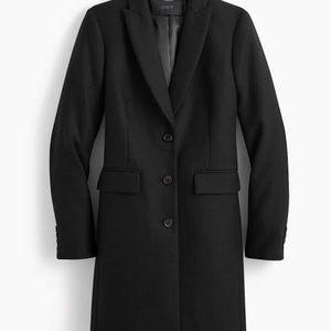 Jcrew Black Wool Top Coat !