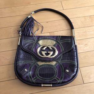 "Gucci limited edition ""Brit"" bag multi skin exotic"
