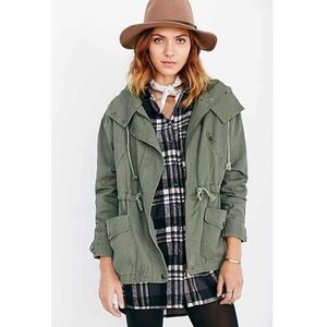 Margot olive green oversized parka