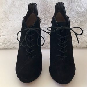 7da921f04cd249 Sam Edelman Shoes - Sam Edelman Elsa Black Suede Ankle Boots