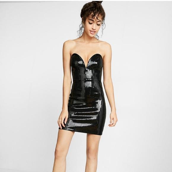 Express Dresses & Skirts - NWT•EXPRESS•Sequin Sheath Dress•4