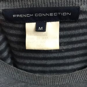 French Connection Sweaters - French Connection Contrast Multi Stripe Crew Men's