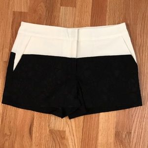 Forever 21 Black and Cream Lace Dress Shorts